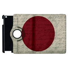 Vintage Flag   Japan Apple Ipad 2 Flip 360 Case by ValentinaDesign