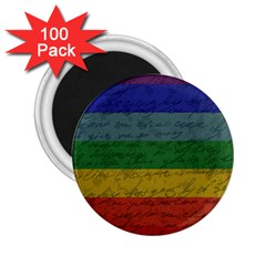 Vintage Flag   Pride 2 25  Magnets (100 Pack)  by ValentinaDesign