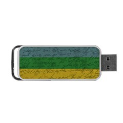 Vintage Flag   Pride Portable Usb Flash (two Sides) by ValentinaDesign