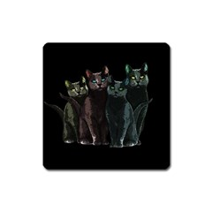Cats Square Magnet by Valentinaart