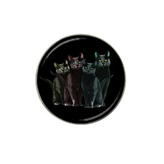 Cats Hat Clip Ball Marker (4 Pack) by Valentinaart