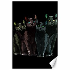 Cats Canvas 24  X 36  by Valentinaart
