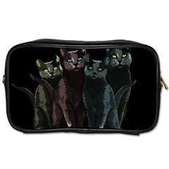 Cats Toiletries Bags 2 Side by Valentinaart