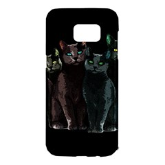 Cats Samsung Galaxy S7 Edge Hardshell Case by Valentinaart