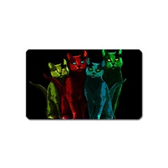 Cats Magnet (name Card) by Valentinaart