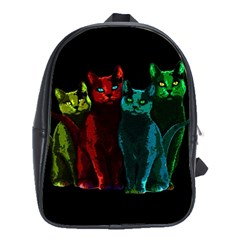 Cats School Bags(large)  by Valentinaart