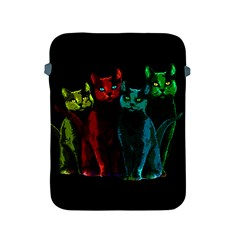Cats Apple Ipad 2/3/4 Protective Soft Cases by Valentinaart