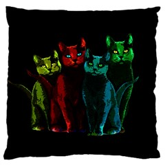 Cats Standard Flano Cushion Case (two Sides) by Valentinaart