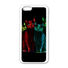 Cats Apple Iphone 6/6s White Enamel Case
