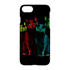 Cats Apple Iphone 7 Hardshell Case by Valentinaart