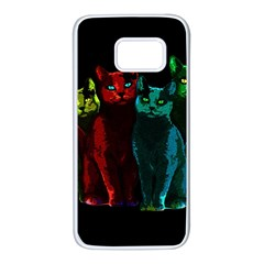 Cats Samsung Galaxy S7 White Seamless Case by Valentinaart