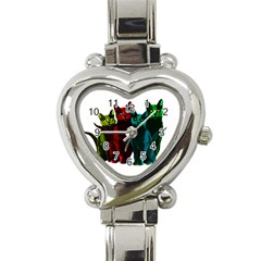 Cats Heart Italian Charm Watch by Valentinaart