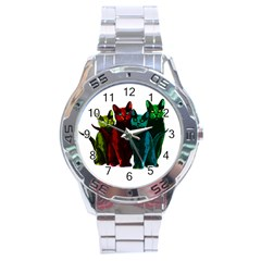 Cats Stainless Steel Analogue Watch by Valentinaart