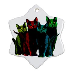 Cats Snowflake Ornament (two Sides) by Valentinaart
