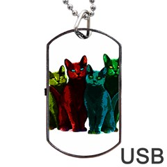Cats Dog Tag Usb Flash (two Sides)