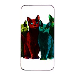 Cats Apple Iphone 4/4s Seamless Case (black) by Valentinaart