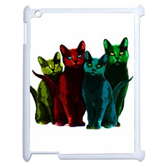 Cats Apple Ipad 2 Case (white) by Valentinaart