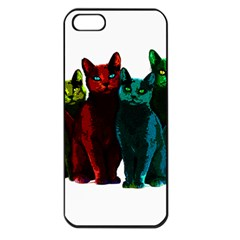 Cats Apple Iphone 5 Seamless Case (black) by Valentinaart