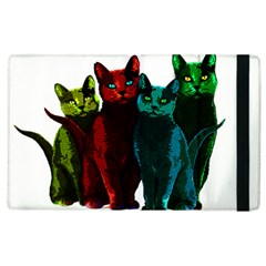 Cats Apple Ipad 3/4 Flip Case by Valentinaart