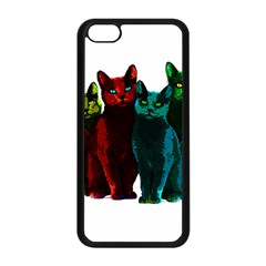 Cats Apple Iphone 5c Seamless Case (black) by Valentinaart