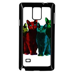 Cats Samsung Galaxy Note 4 Case (black) by Valentinaart