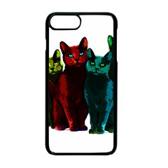 Cats Apple Iphone 7 Plus Seamless Case (black) by Valentinaart