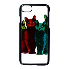Cats Apple Iphone 7 Seamless Case (black) by Valentinaart