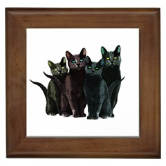 Cats Framed Tiles by Valentinaart