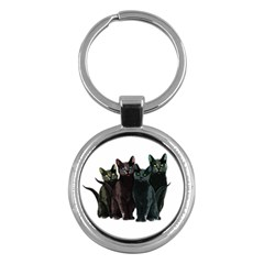 Cats Key Chains (round)  by Valentinaart