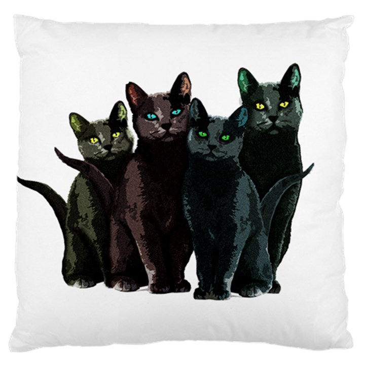 Cats Large Cushion Case (One Side)