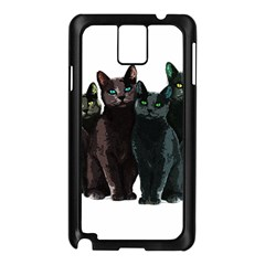 Cats Samsung Galaxy Note 3 N9005 Case (black) by Valentinaart