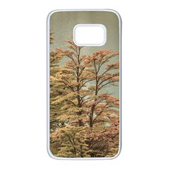 Landscape Scene Colored Trees At Glacier Lake  Patagonia Argentina Samsung Galaxy S7 White Seamless Case by dflcprints