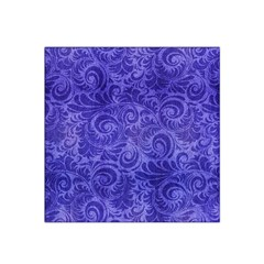 Vibrant Blue Romantic Flower Pattern Satin Bandana Scarf by Ivana
