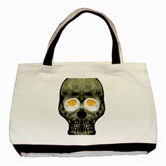 Skull With Fried Egg Eyes Basic Tote Bag (two Sides) by dflcprints
