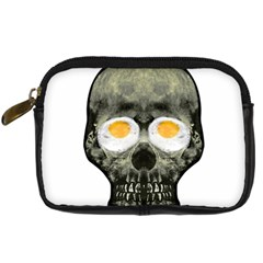 Skull With Fried Egg Eyes Digital Camera Cases by dflcprints