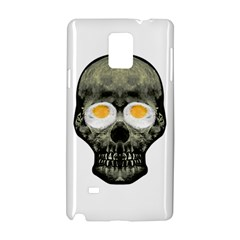 Skull With Fried Egg Eyes Samsung Galaxy Note 4 Hardshell Case by dflcprints