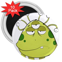 The Most Ugly Alien Ever 3  Magnets (10 Pack)  by Catifornia
