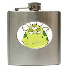 The Most Ugly Alien Ever Hip Flask (6 Oz) by Catifornia