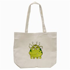 The Most Ugly Alien Ever Tote Bag (cream) by Catifornia