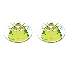 The Most Ugly Alien Ever Cufflinks (oval) by Catifornia