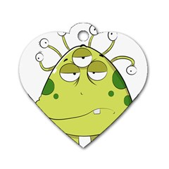 The Most Ugly Alien Ever Dog Tag Heart (one Side) by Catifornia