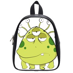 The Most Ugly Alien Ever School Bags (small)  by Catifornia