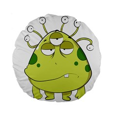 The Most Ugly Alien Ever Standard 15  Premium Flano Round Cushions by Catifornia