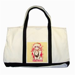 Blonde Hair Bikini Furry Girl Two Tone Tote Bag by Catifornia