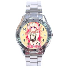 Blonde Hair Bikini Furry Girl Stainless Steel Analogue Watch by Catifornia