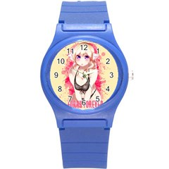 Blonde Hair Bikini Furry Girl Round Plastic Sport Watch (s) by Catifornia