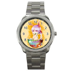 Easter Bunny Furry Sport Metal Watch by Catifornia