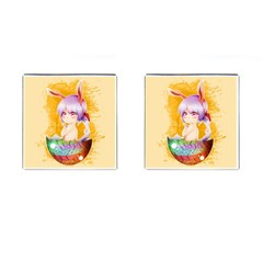 Easter Bunny Furry Cufflinks (square) by Catifornia