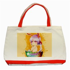 Easter Bunny Furry Classic Tote Bag (red) by Catifornia