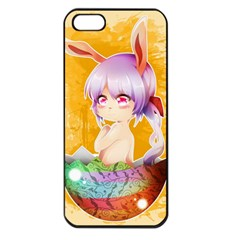 Easter Bunny Furry Apple Iphone 5 Seamless Case (black) by Catifornia